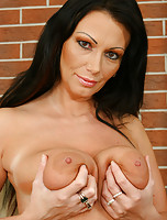 Busty MILF Sandra playing with her big titties and pussy
